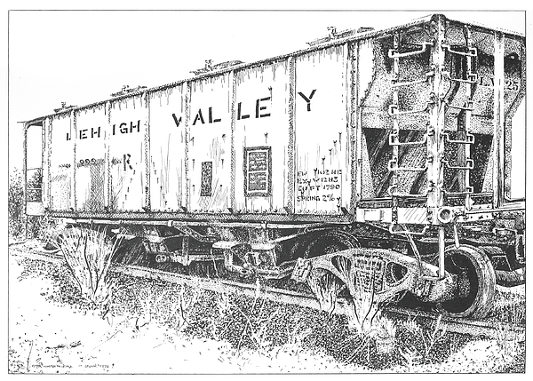 Lehigh Valley Coal Car by Peter Muzyka